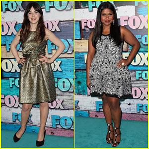Zooey Deschanel & Mindy Kaling: Fox All-Star Party!