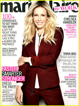 Chelsea Handler Covers 'Marie Claire @ Work' September 2012!