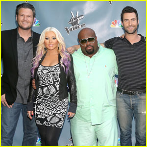 Christina Aguilera: 'The Voice' Press Junket for NBC!