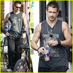 Colin Farrell: Yoga Stretch