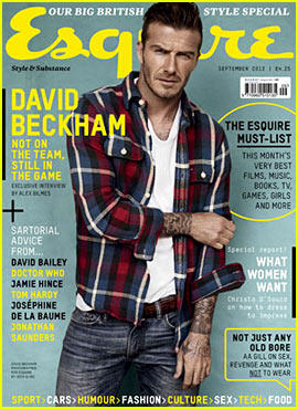 David Beckham Covers 'Esquire UK' September 2012