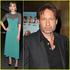 David Duchovny & Dakota Johnson: 'Goats' Premiere!