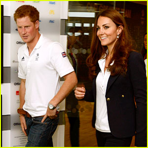 Duchess Kate & Prince Harry Meet Olympic Medalists