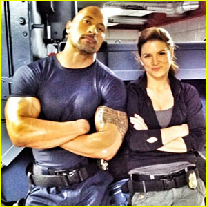 Dwayne Johnson: 'Fast and Furious 6' Set With Gina Carano