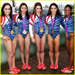 Fierce Five Celebrate Olympic Medals at adidas Lounge