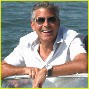 George Clooney: Venice Taxi Boat Rider!
