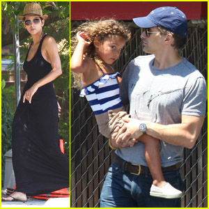 Halle Berry: Errands with Olivier & Nahla!