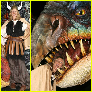 Heidi Klum Gets Eaten By a Dragon!