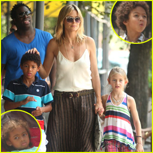 Heidi Klum: Soho Stroll with Family!