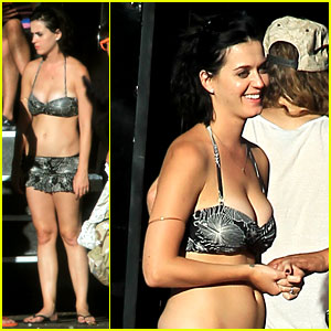 Katy Perry: Bikini Beautiful at Raging Waters Waterpark