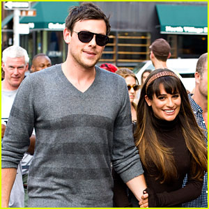 Lea Michele & Cory Monteith: Holding Hands on 'Glee' Set!