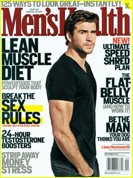 Liam Hemsworth Covers 'Men's Health' September 2012