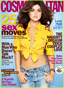 Lucy Hale Covers 'Cosmopolitan' September 2012