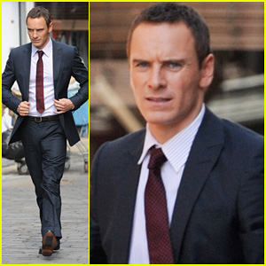 Michael Fassbender: 'The Counselor' Set!