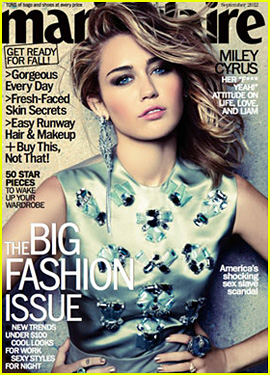 Miley Cyrus Covers 'Marie Claire' September 2012!