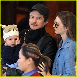 Miranda Kerr & Orlando Bloom: Sydney Arrival with Flynn!