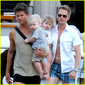 Neil Patrick Harris with cool, Husband David Burtka