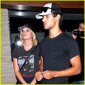 Taylor Lautner & Ashley Benson: Red O Dinner Duo!