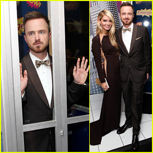 Aaron Paul & Lauren Parsekian: Emmys Gift Lounge Lovers!