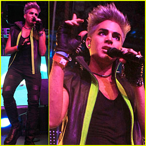 Adam Lambert: Matinee Circus Disco Performer!