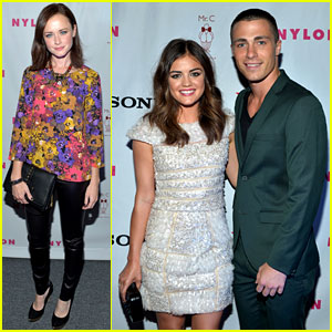 Alexis Bledel & Lucy Hale: 'Nylon' TV Issue Launch Party!