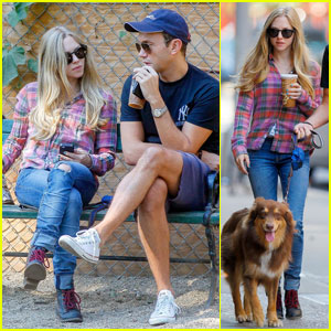Amanda Seyfried: Dog Park with Finn!