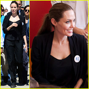 Angelina Jolie Meets Syrian Refugee Children in Turkey
