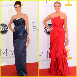 Betsy Brandt & Anna Gunn - Emmys 2012 Red Carpet