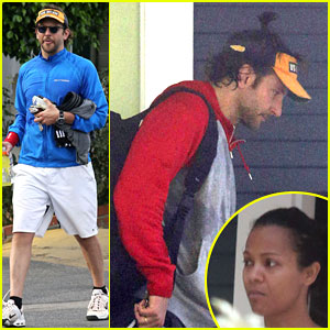 Bradley Cooper Leaves Zoe Saldana's House in the Morning