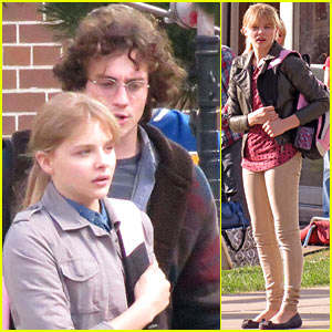 Chloe Moretz: 'Kick-Ass 2' Set with Aaron Taylor-Johnson!