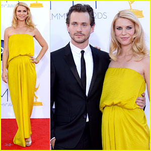 Claire Danes & Hugh Dancy - Emmys 2012 Red Carpet