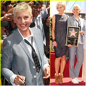 Ellen DeGeneres Receives Star On Hollywood Walk of Fame!