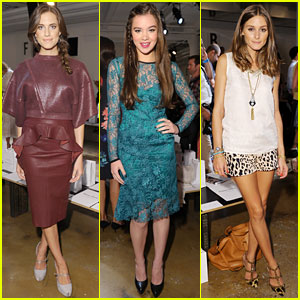 Hailee Steinfeld &#038; Allison Williams: Peter Som Fashion Show!