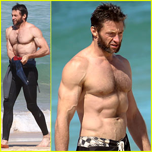 Hugh Jackman: Shirtless at Bondi Beach!