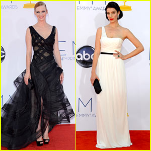 January Jones &#038; Jessica Pare - Emmys 2012 Red Carpet
