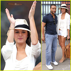 John Legend & Chrissy Teigen: U.S. Open Toast!