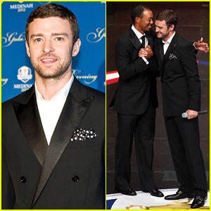 Justin Timberlake: Ryder Cup Gala with Tiger Woods!