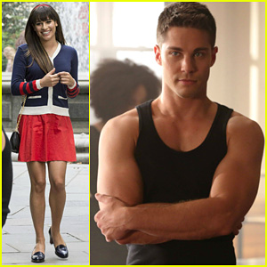 Lea Michele & Dean Geyer: Glee 'Britney 2.0' Stills!