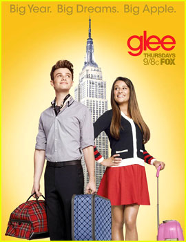 Chris Colfer &#038; Lea Michele: 'Glee' NYC Promo Poster!