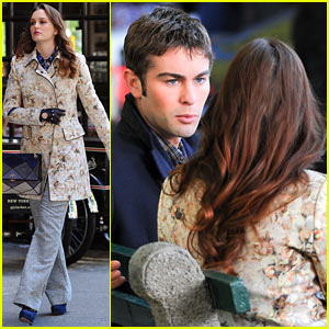 Leighton Meester & Chace Crawford: 'Gossip Girl' Filming!