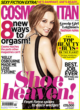 Leighton Meester Covers 'British Cosmopolitan' October 2012