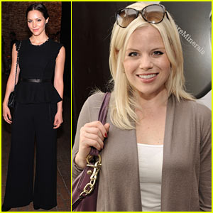 Katharine McPhee & Megan Hilty: New York Fashion Week Events!