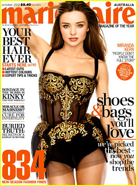Miranda Kerr Covers 'Marie Claire Australia' October 2012