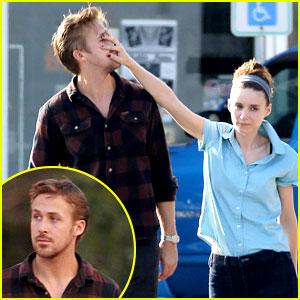 Rooney Mara Pushes Ryan Gosling's Face on 'Malick' Set