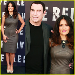 Salma Hayek: 'Savages' Rome Photo Call with John Travolta!