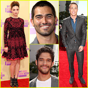 'Teen Wolf' Cast - MTV VMAs 2012 Red Carpet