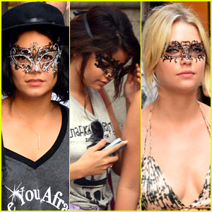Vanessa Hudgens &#038; Selena Gomez: Masked Beauties in Venice!