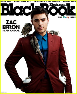 Zac Efron Covers 'Blackbook' Party Issue for October 2012