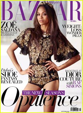 Zoe Saldana Covers 'Harper's Bazaar Arabia'