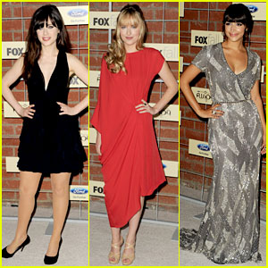 Zooey Deschanel & Dakota Johnson: Fox Eco-Casino Party!